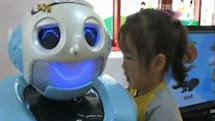 Kiro robot teaches Korean kindergarten by day, discusses Kandinsky by night