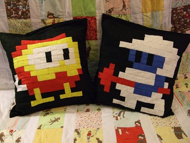 Dig Dug Pillows spark dreams of retro gaming paradise