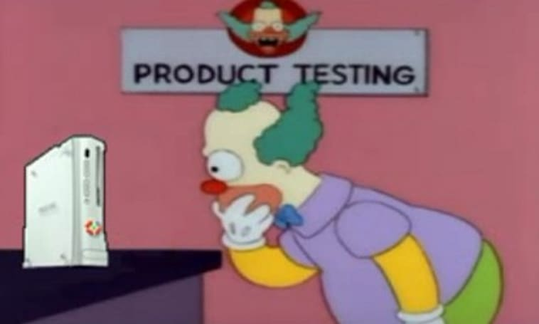 Red Ring of Death? Blame Krusty the Clown