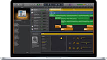 Apple's GarageBand uses trackpad pressure to control your tunes