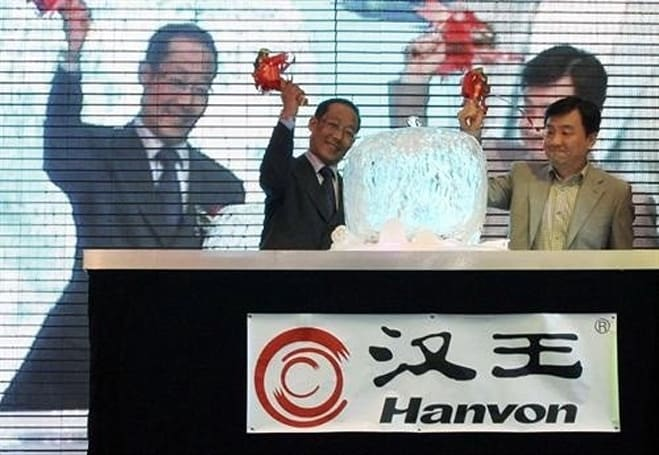 Hanvon CEO smashes Apple effigy at TouchPad launch (video)