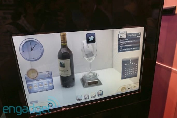 Transview touch-sensitive transparent display case eyes-on (video)
