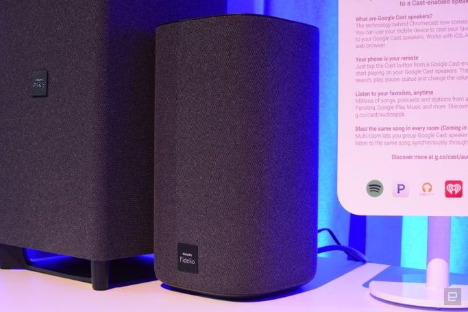Philips' Fidelio E6 system has surround sound when you need it