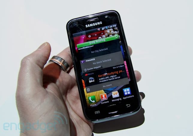 Samsung Galaxy S hands-on with video