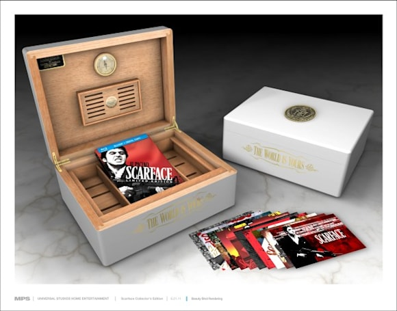 Scarface Blu-ray's $699 Limited Edition Humidor case, fan art revealed