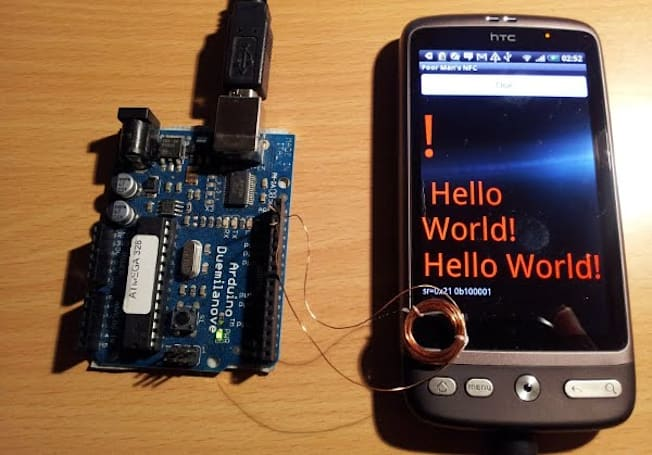 Arduino, magnet wire, and Android combine to create poor man's NFC (video)