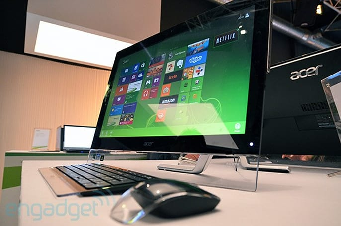 Acer's Windows 8 all-in-ones cause big fuss in Taiwan, we go hands-on to find out why (video)