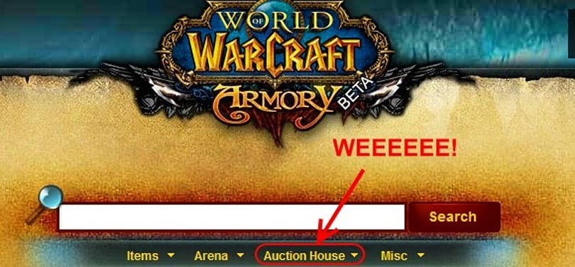 Gold Capped: Using the new armory auction house