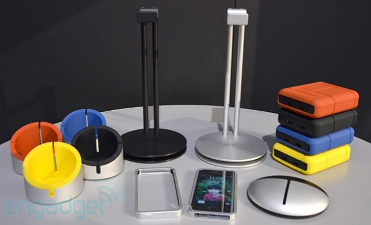 Just Mobile's early-2013 range: AluCup, black HeadStand, AluFrame, AluPocket and Gum Max Duo