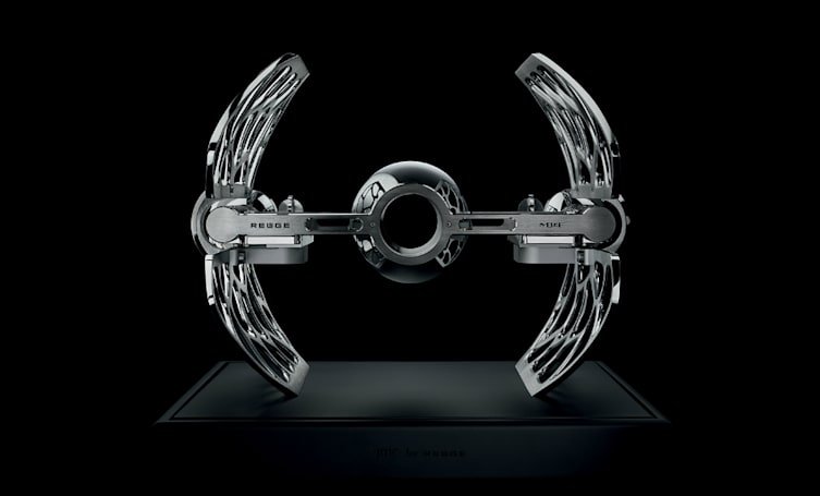 A sleek, Star Wars-inspired music box