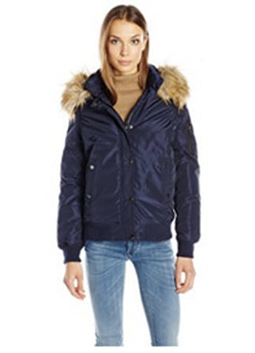 Madden Girl Hooded Bomber Jacket
