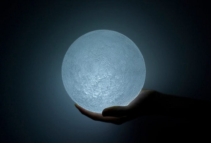 LED Moon shines message of hope, no dark side to see