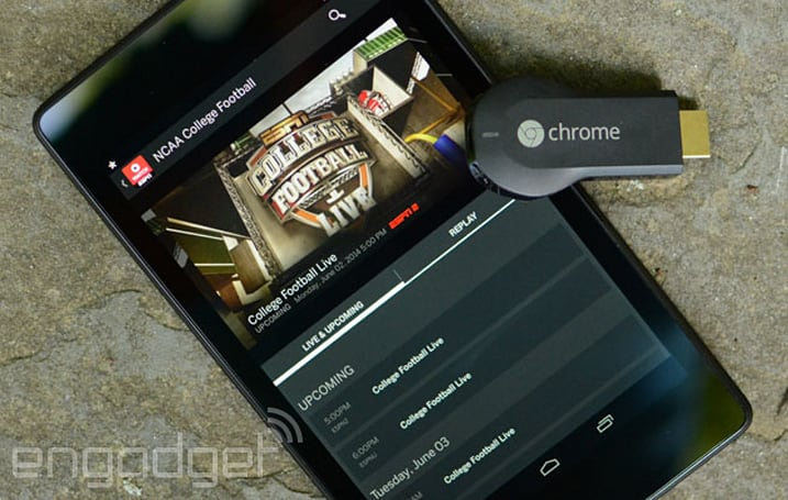 Google brings WatchESPN, MLS and more to Chromecast