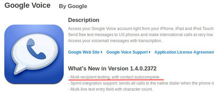 Google Voice for iOS joins the mass texting party