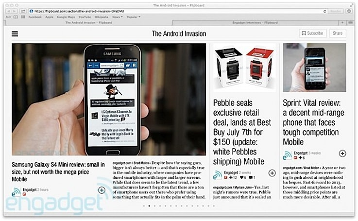 Flipboard brings magazines to the web, launches 'Big Ideas'