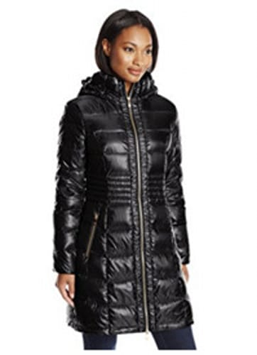 Via Spiga Metallic Packable Down Coat