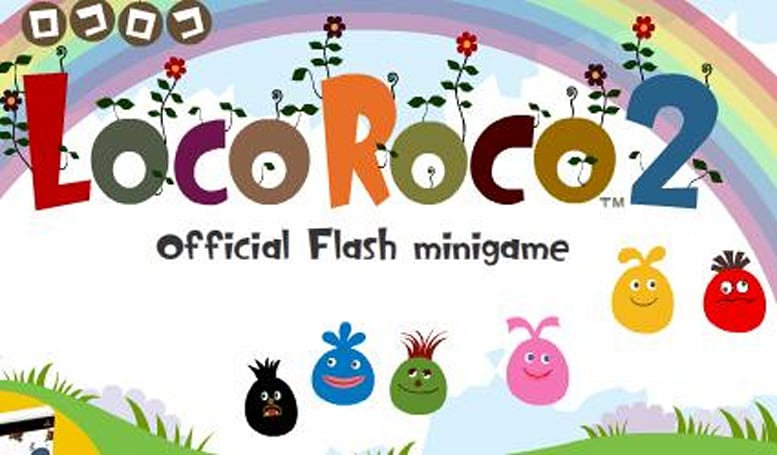 Play LocoRoco 2's official flash mini-game