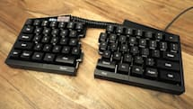 Ultimate Hacking Keyboard splits in half, is fully programmable