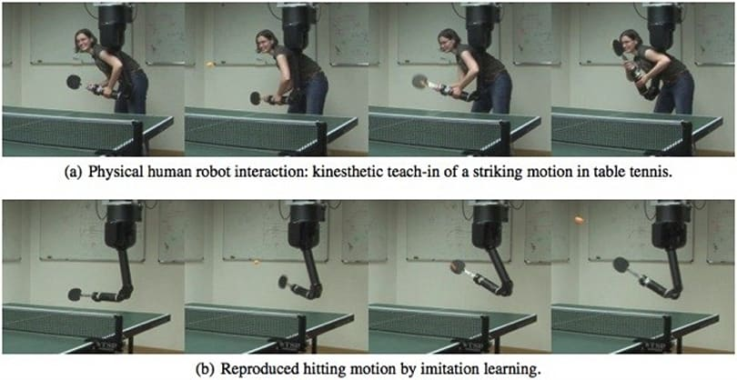 German robot arm learns ping-pong as it plays humans, might rival its masters