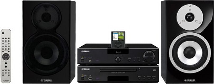 Yamaha introduces four mini audio systems, all with iPod docks
