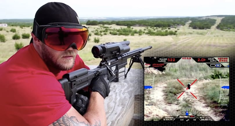 Watch a sniper nail his target from 500 yards without even 'looking' at it