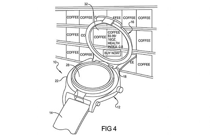 Google patents smart watch with flip-up display that could reveal everyday objects' secrets