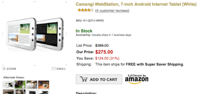Camangi Webstation drops to $275, still a tough sell