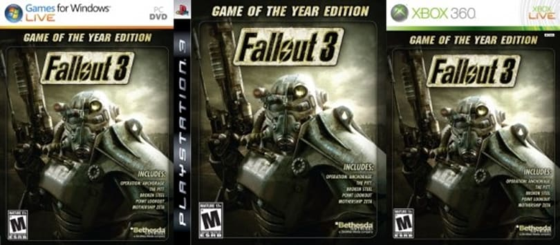 Fallout 3 GOTY edition, PS3 DLC dated