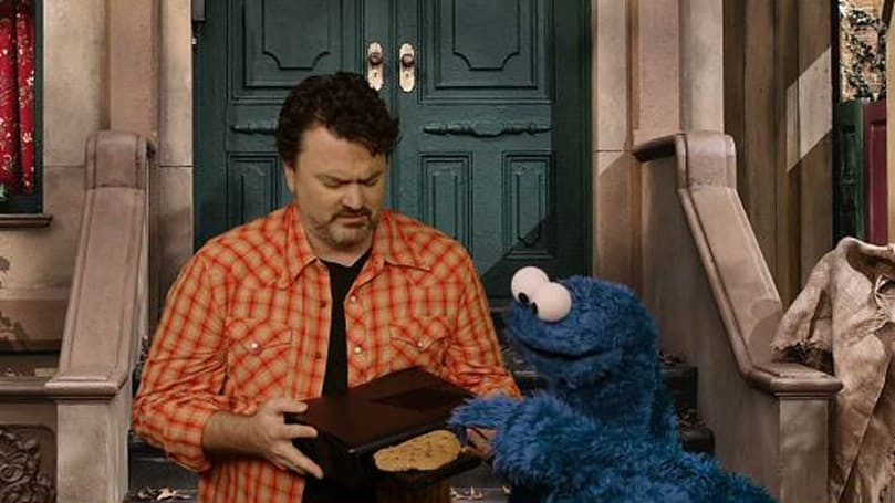 Cookie Monster eat Xbox, but Xbox not cookie!