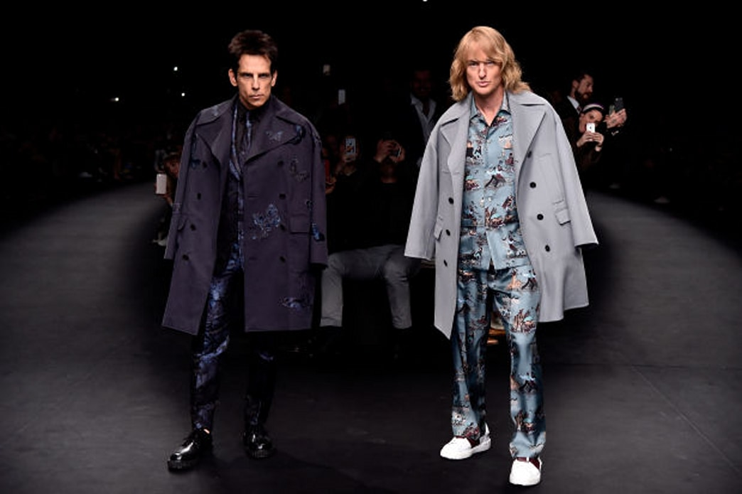 Derek Zoolander and Hansel close the Valentino show