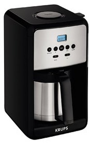 KRUPS Programmable Thermal Stainless Steel Coffee Maker