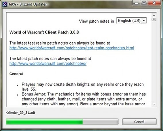 World of Warcraft 3.0.8 Patch Notes [Updated]