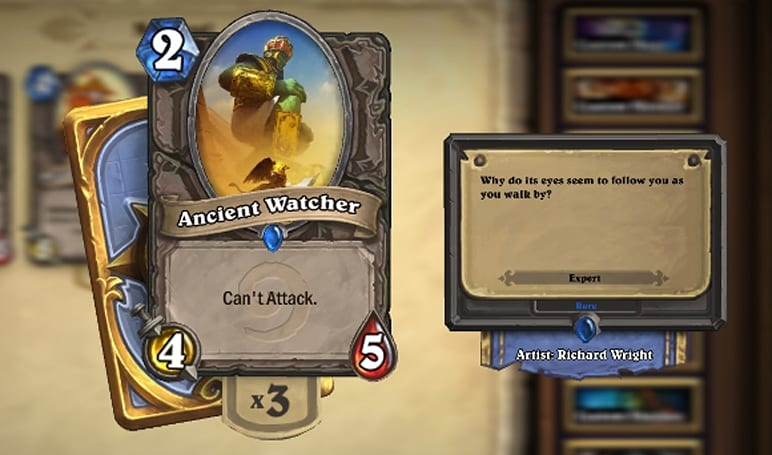 Hearthstone: Beware the Ancient Watcher