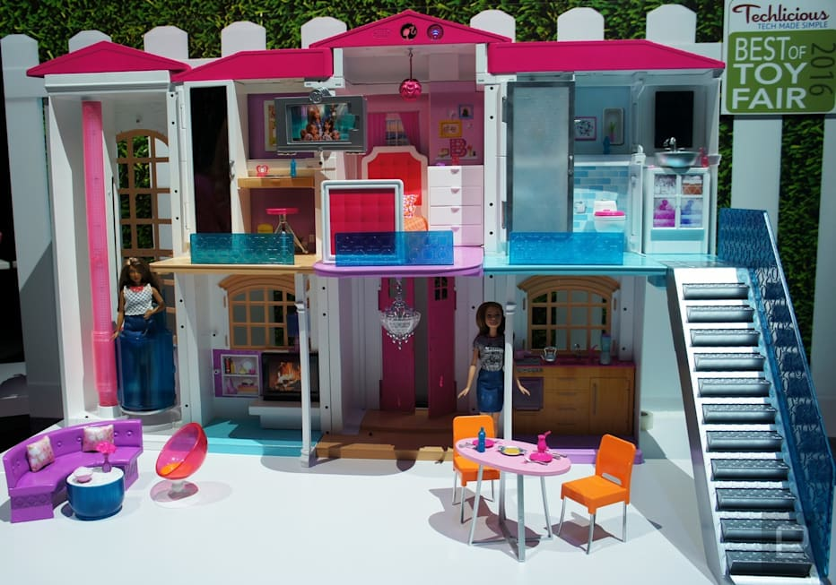 Barbie's smart home is a party house