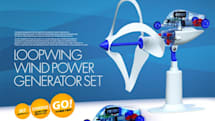 Loopwing toy car runs on wind power