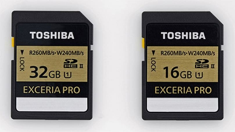 Toshiba's Exceria Pro SDHC cards claim 'world's fastest' write speeds of 240MB per second