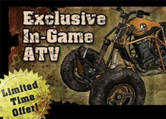 Fallen Earth's special pre-order ATV goes vroom vroom