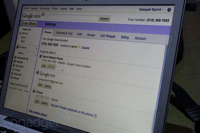 Google Voice for Sprint hands-on (video)