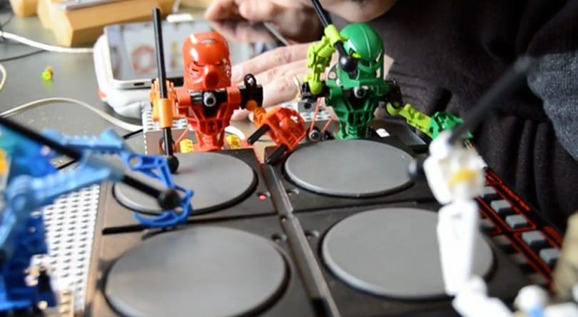 Lego Bionicles drafted into Arduino-driven band with synthesizers and more (video)