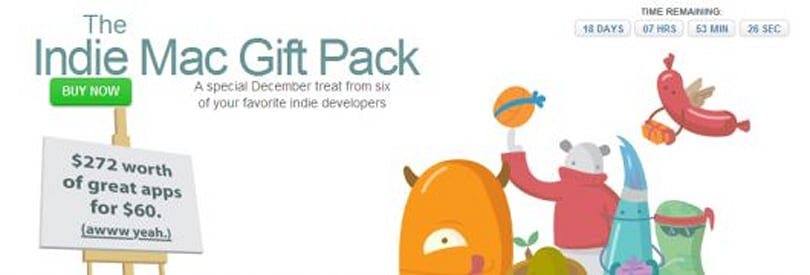 Indie Mac Gift Pack offers discounted Mac software for the holidays
