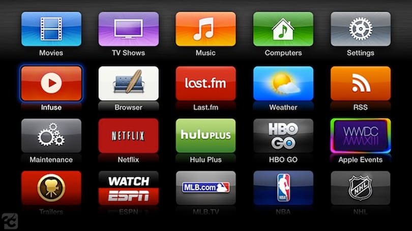 Untethered jailbreak for second gen Apple TVs updated, puts XBMC next to HBO Go