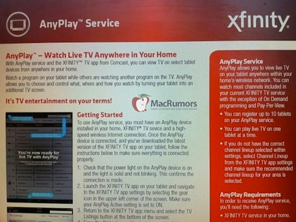 Comcast close to releasing AnyPlay box for in-home live TV streaming to tablets