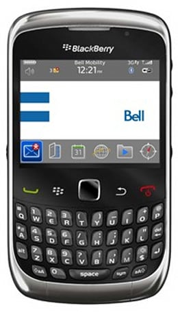BlackBerry Curve 3G enroute to Bell this Thursday