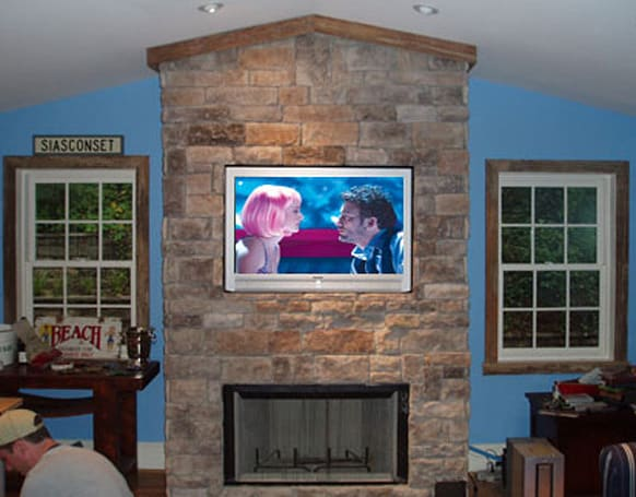 Calling the shot: mounting / not mounting flat-panel above fireplace