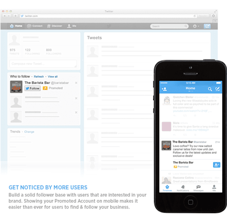 Twitter's promoted accounts might start showing up in your timeline