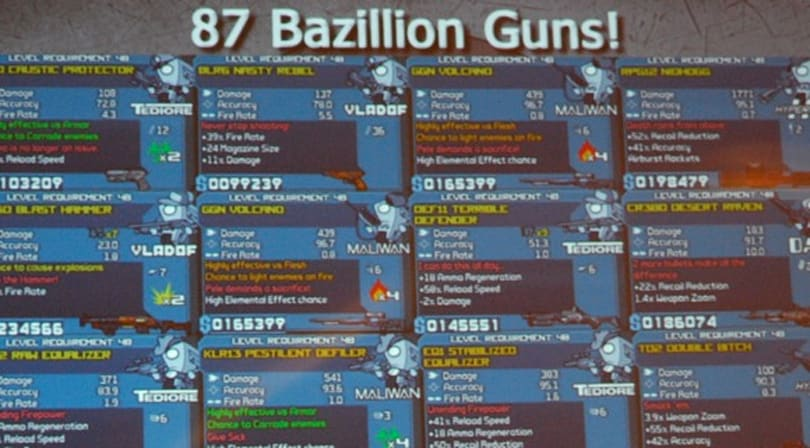 SXSW: Creating 87 bazillion guns for Borderlands