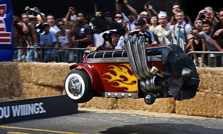 Brutal Legend soapbox bus rocks the Red Bull derby