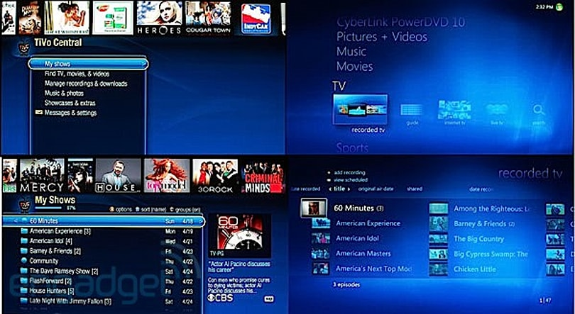 TiVo Premiere vs Windows 7 Media Center