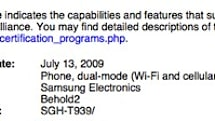 Samsung Behold2 gets WiFi certification, unwanted public exposure
