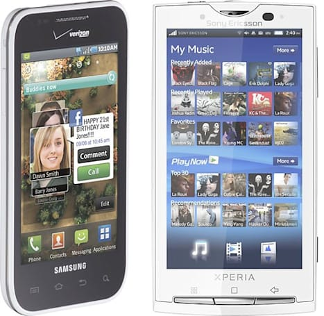 Dell Streak, HTC Surround, white Samsung Fascinate, and Taylor Swift-ified white SE X10 coming to Best Buy exclusively